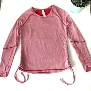 Lucy Tech Dashing Stripes Long Sleeve Active Top L